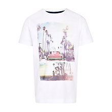 Buy John Lewis Boy Car and Trees Photograph T-Shirt, Cream Online at johnlewis.com