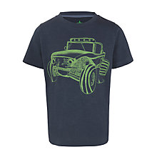Buy John Lewis Boy Crew Neck Jeep Graphic T-Shirt, Grey/Green Online at johnlewis.com