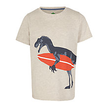 Buy John Lewis Boy Dinosaur Graphic T-Shirt, Oatmeal Online at johnlewis.com