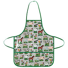 Buy Cath Kidston Children's Farmyard Apron, Green Online at johnlewis.com