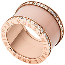 Buy Michael Kors Blush Barrel Ring, Rose Gold Online at johnlewis.com