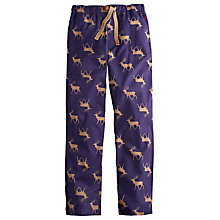 Buy Joules Reindeer Print Cotton Lounge Pants, Navy Online at johnlewis.com