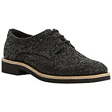 Buy Dune Leni Glitter Brogues, Black Online at johnlewis.com