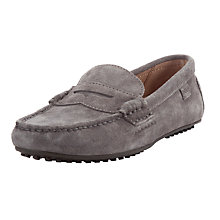 Buy Polo Ralph Lauren Suede Wes Penny Loafers, Grey Online at johnlewis.com