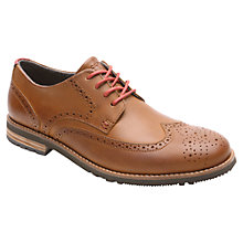 Buy Rockport Ledge Hill Two Wingtip Shoes, New Caramel Online at johnlewis.com