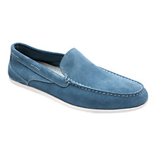 Buy Rockport Cape Noble Three Suede Washable Venetian Loafers, Blue Online at johnlewis.com