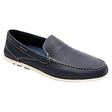 Buy Rockport Cape Noble Three Venetian Loafers, Navy Online at johnlewis.com