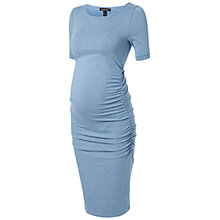 Buy Isabella Oliver Ruched T-Shirt Maternity Dress, Denim Blue Online at johnlewis.com