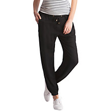 Buy Seraphine Harmony 2 Harem Maternity Trousers, Black Online at johnlewis.com