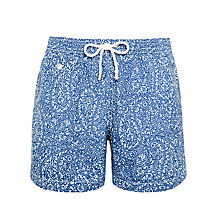 Buy Hartford Paisley Swim Shorts, Navy Online at johnlewis.com