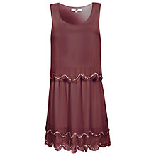 Buy True Decadence Scallop Sequin Dress, Maroon Online at johnlewis.com