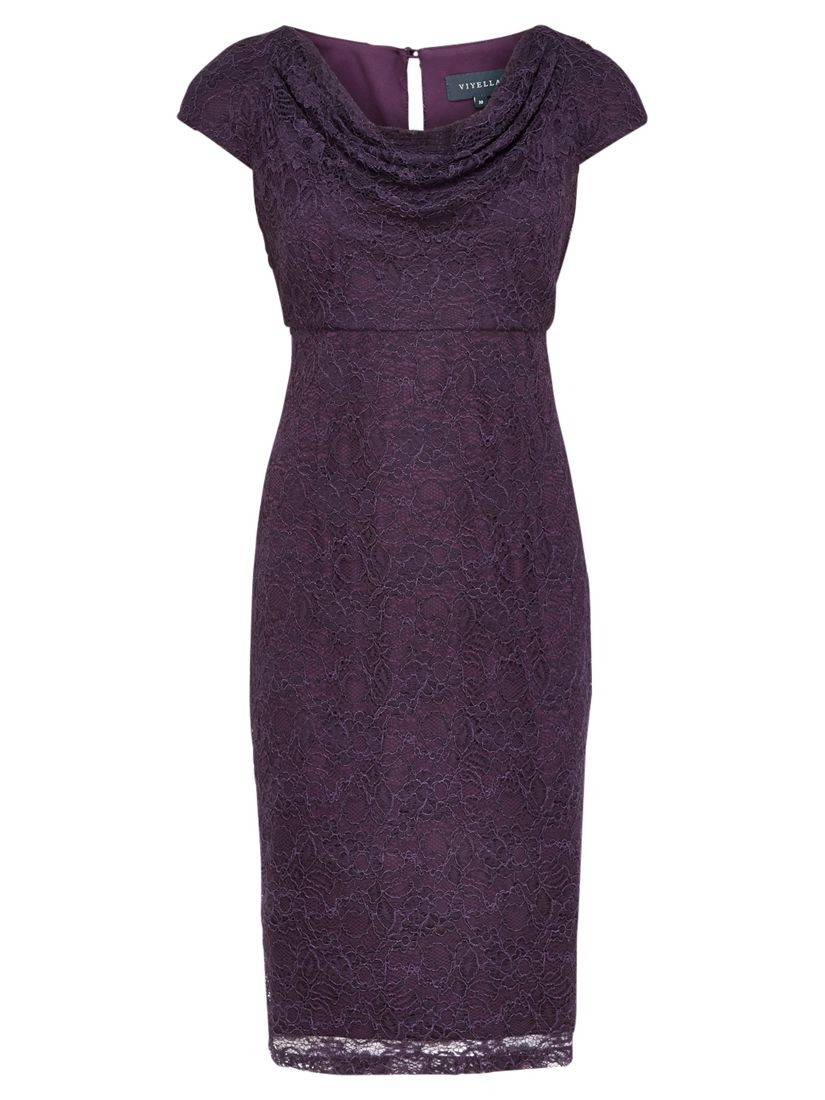 viyella lace cowl neck dress dark purple, viyella, lace, cowl, neck, dress, dark, purple, 10|20|12, clearance, womenswear offers, womens dresses offers, women, plus size, party outfits, lace dress, womens dresses, special offers, up to 30% off selected viyella, 1773374