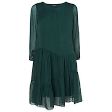 Buy Phase Eight Peri Silk Tiered Dress, Forest Online at johnlewis.com