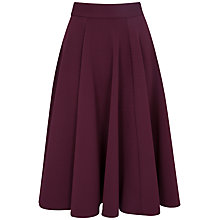 Buy Closet Flared Waffle Skirt, Wine Online at johnlewis.com