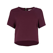 Buy Closet Waffle High Low Top, Wine Online at johnlewis.com