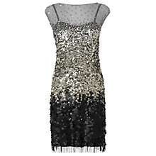 Buy Phase Eight Collection 8 Bel-Air Sequin Dress, Silver/Black Online at johnlewis.com