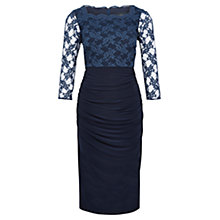 Buy Viyella Cowl Neck Dress, Navy Online at johnlewis.com
