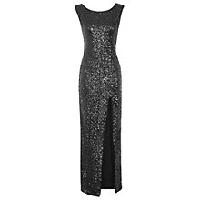 Buy True Decadence Sequin Split Maxi Dress, Black Online at johnlewis.com