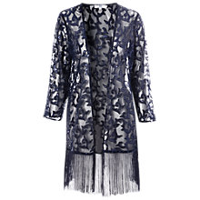 Buy True Decadence Sequin Mesh Fringed Kimono, Navy Online at johnlewis.com