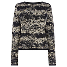 Buy Warehouse Textured Co-Ord Jumper, Black Online at johnlewis.com