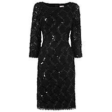 Buy Phase Eight Ribbon Stretch Dress, Black Online at johnlewis.com