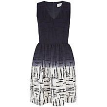 Buy Closet V-Neck Print Full Dress, Black / White Online at johnlewis.com