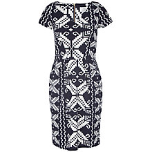 Buy Closet Square Ponti Dress, Black Online at johnlewis.com