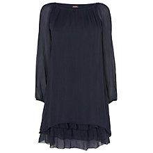 Buy Phase Eight Pietra Silk Dress, Navy Online at johnlewis.com