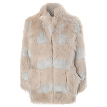 Buy True Decadence Faux Fur Coat, Stone/Grey Online at johnlewis.com