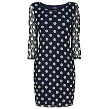 Buy Phase Eight Spot Lace Tunic Dress, Navy / Grey Online at johnlewis.com