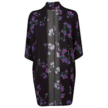 Buy Phase Eight Hamani Print Kimono, Black/Violet Online at johnlewis.com