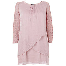 Buy Phase Eight Livvie Lace Blouse, Dusty Pink Online at johnlewis.com