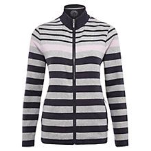 Buy Viyella Striped Zip Through Jacket, Silver Grey Online at johnlewis.com