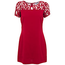 Buy Whistle & Wolf Lace Top Dress, Red Online at johnlewis.com