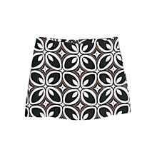 Buy Mango Printed Mini Skirt, Black Online at johnlewis.com