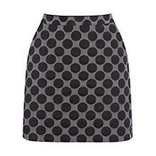 Buy Oasis Polka Dot Marley Skirt, Multi Black Online at johnlewis.com