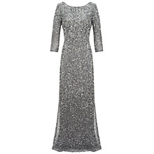 Buy Adrianna Papell Long Sequin Dress, Grey Online at johnlewis.com