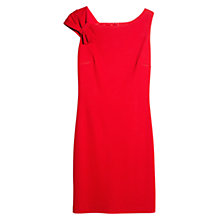 Buy Mango Pleated Shoulder Dress, Bright Red Online at johnlewis.com
