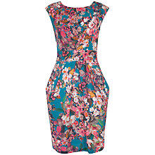Buy Almari Floral Print V Tie Back Dress, Multi Online at johnlewis.com