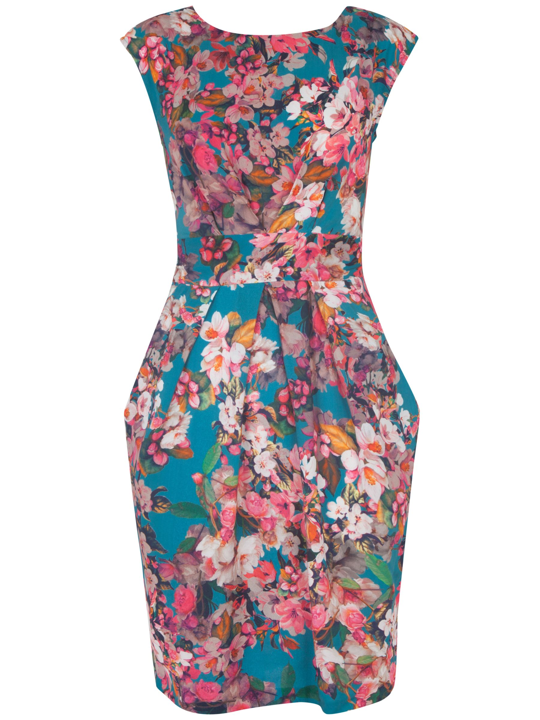almari floral print v tie back dress multi, almari, floral, print, tie, back, dress, multi, 16|14, clearance, womenswear offers, womens dresses offers, women, inactive womenswear, new reductions, womens dresses, special offers, 1763288