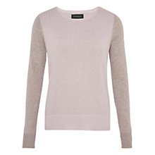 Buy Viyella Marl Grid Block Jumper, Silver Grey Marl Online at johnlewis.com