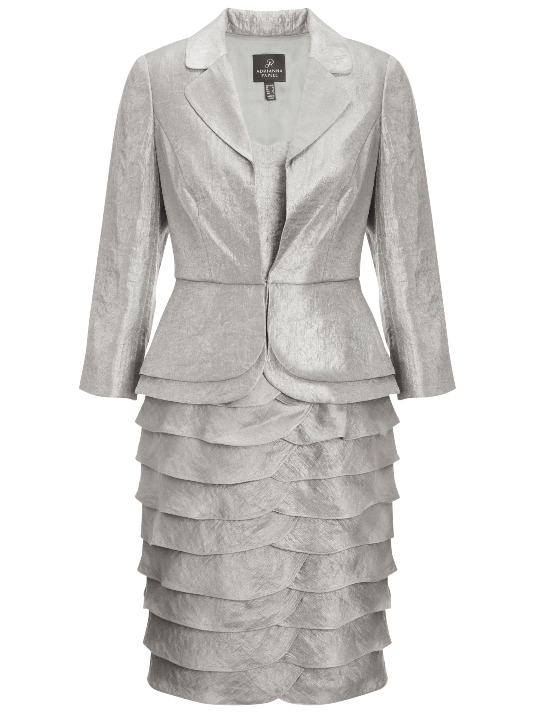 adrianna papell peplum jacket shimmer dress platinum, adrianna, papell, peplum, jacket, shimmer, dress, platinum, adrianna papell, 8|14|20|16|10|12|18, special offers, womenswear offers, 30% off selected adrianna papell, women, womens dresses, gifts, wedding, wedding clothing, mother of the bride, 1765383