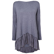 Buy Phase Eight Livia Frill Hem Jumper, Denim Online at johnlewis.com