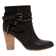 Buy Mint Velvet Amber Leather Ankle Boots, Black Online at johnlewis.com