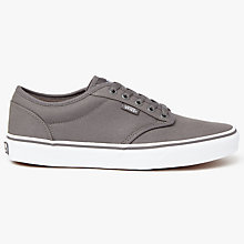 Buy Vans Atwood Canvas Trainers, Pewter Online at johnlewis.com