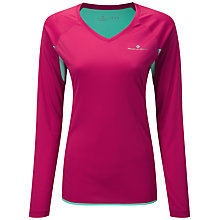 Buy Ronhill Aspiration Long Sleeve Running Top, Pink/Green Online at johnlewis.com