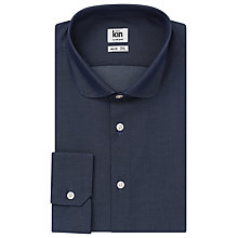 Buy Kin by John Lewis Chambray Penny Collar Shirt, Indigo Online at johnlewis.com