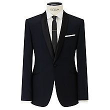 Buy Kin by John Lewis Alpha Jacquard Slim Fit Dinner Suit Jacket, Navy Online at johnlewis.com