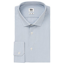 Buy Kin by John Lewis Eldon Fine Stripe Long Sleeve Shirt, Steel Blue Online at johnlewis.com