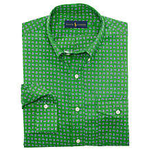 Buy Polo Ralph Lauren Printed Poplin Shirt, Green Online at johnlewis.com